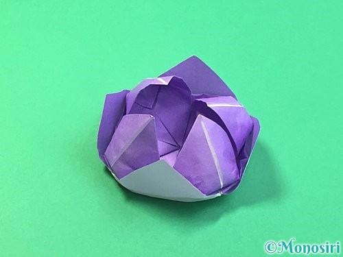 折り紙で睡蓮(蓮の花)の折り方手順27