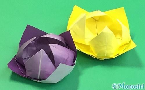 折り紙で折った睡蓮(蓮の花)