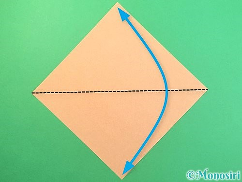 折り紙でうさぎの折り方手順1