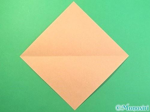 折り紙でうさぎの折り方手順2
