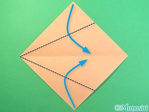 折り紙でうさぎの折り方手順3