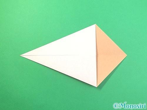 折り紙でうさぎの折り方手順4