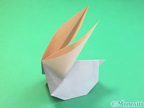 折り紙でうさぎの折り方手順25