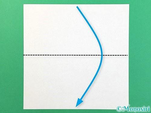 折り紙で風船うさぎの折り方手順1