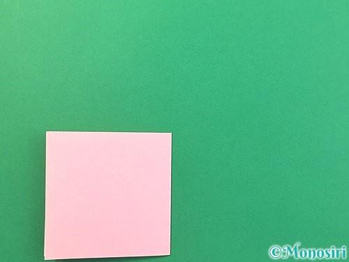 折り紙で風船うさぎの折り方手順4