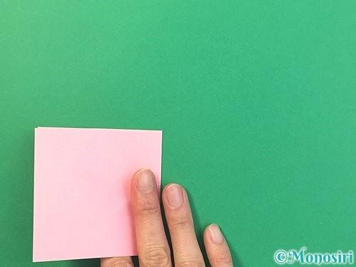 折り紙で風船うさぎの折り方手順5