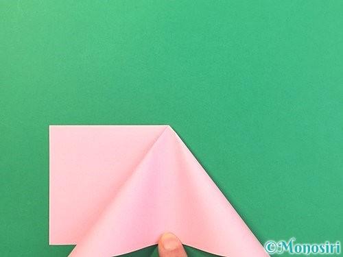 折り紙で風船うさぎの折り方手順7