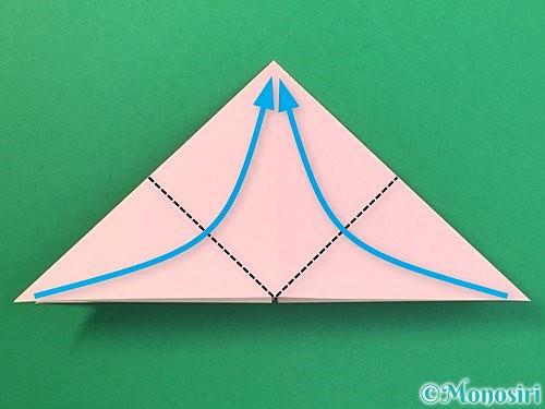 折り紙で風船うさぎの折り方手順10