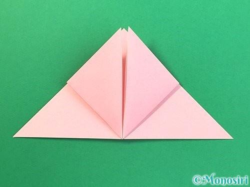 折り紙で風船うさぎの折り方手順11