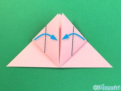 折り紙で風船うさぎの折り方手順12