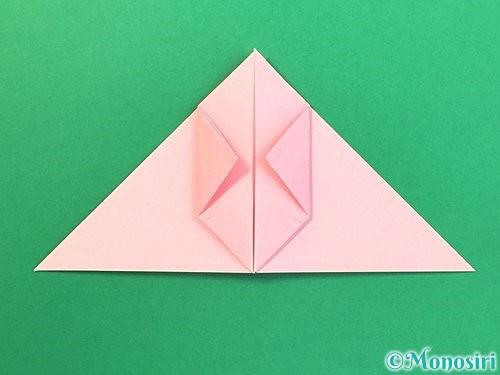 折り紙で風船うさぎの折り方手順13