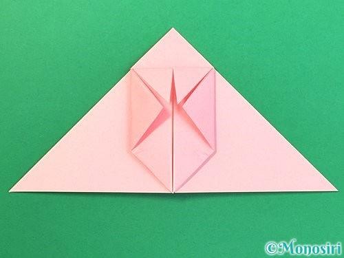 折り紙で風船うさぎの折り方手順15