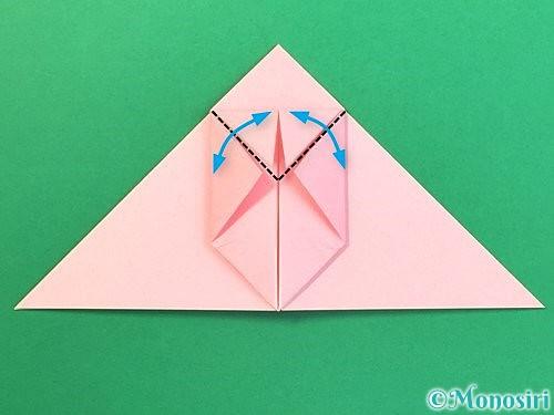 折り紙で風船うさぎの折り方手順16