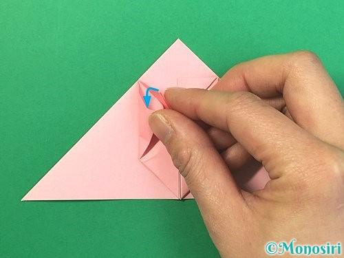 折り紙で風船うさぎの折り方手順18