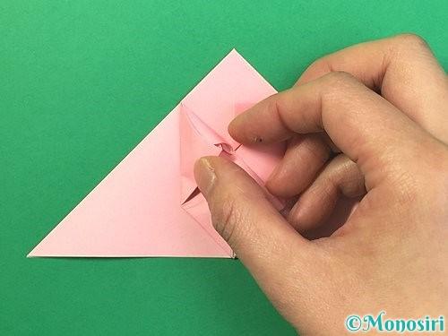 折り紙で風船うさぎの折り方手順19
