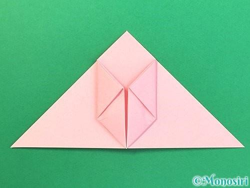 折り紙で風船うさぎの折り方手順20