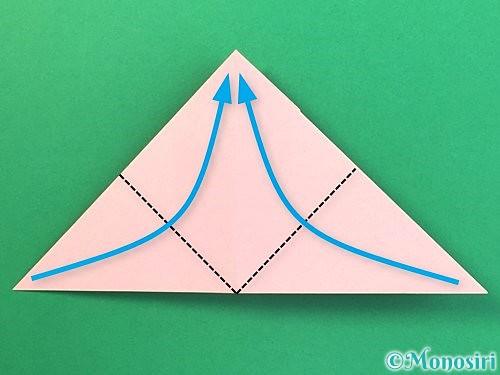折り紙で風船うさぎの折り方手順22