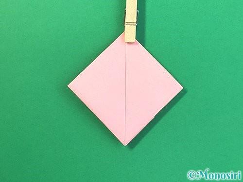 折り紙で風船うさぎの折り方手順23
