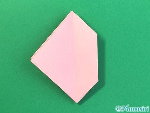 折り紙で風船うさぎの折り方手順25