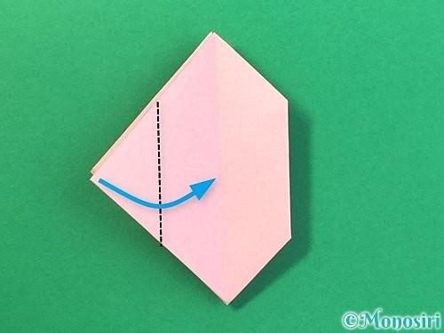 折り紙で風船うさぎの折り方手順26