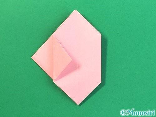 折り紙で風船うさぎの折り方手順27