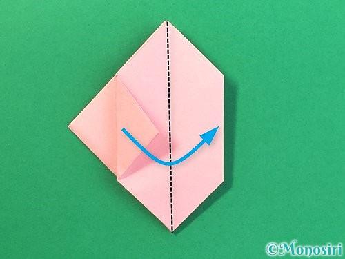 折り紙で風船うさぎの折り方手順28
