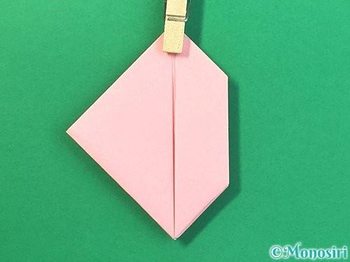 折り紙で風船うさぎの折り方手順29