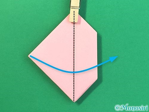 折り紙で風船うさぎの折り方手順30