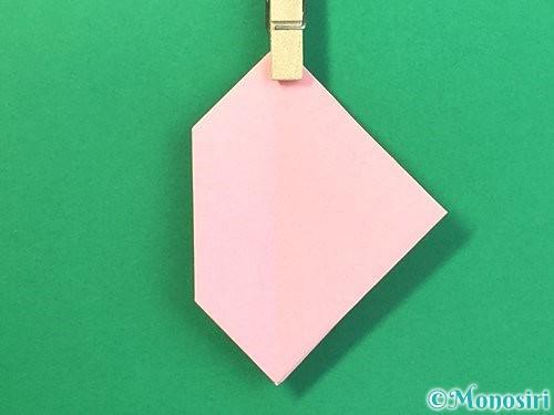 折り紙で風船うさぎの折り方手順31