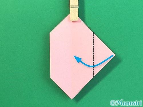 折り紙で風船うさぎの折り方手順32