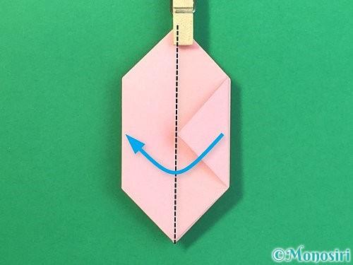 折り紙で風船うさぎの折り方手順34