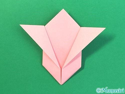 折り紙で風船うさぎの折り方手順37
