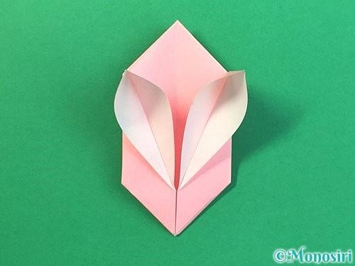 折り紙で風船うさぎの折り方手順40