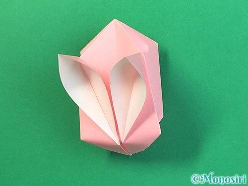 折り紙で風船うさぎの折り方手順42