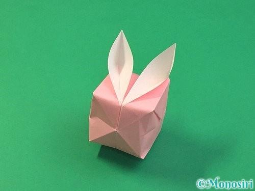 折り紙で風船うさぎの折り方手順43