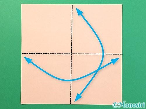 折り紙で立体的なうさぎ折り方手順1