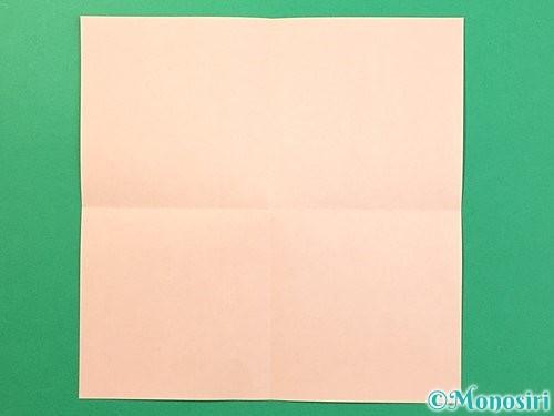 折り紙で立体的なうさぎ折り方手順2