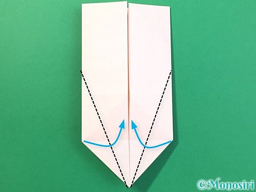 折り紙で立体的なうさぎ折り方手順21