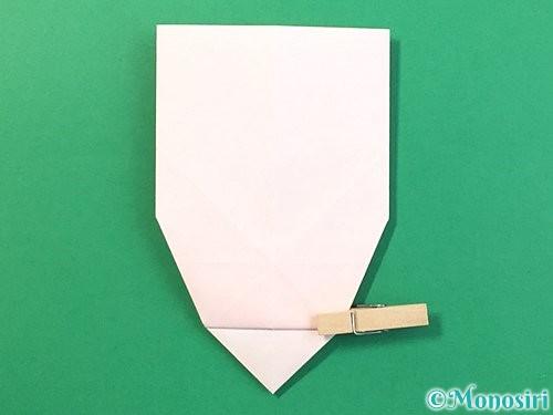折り紙で立体的なうさぎ折り方手順27