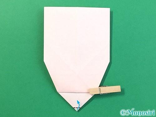 折り紙で立体的なうさぎ折り方手順28