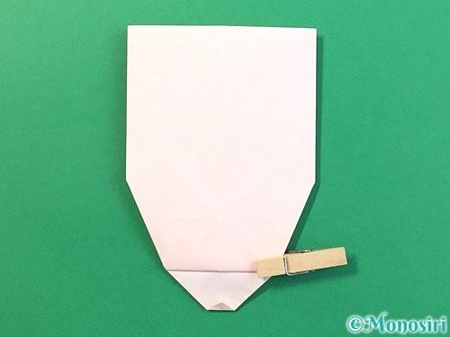 折り紙で立体的なうさぎ折り方手順29