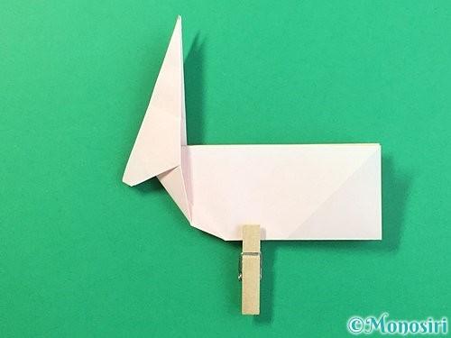 折り紙で立体的なうさぎ折り方手順34