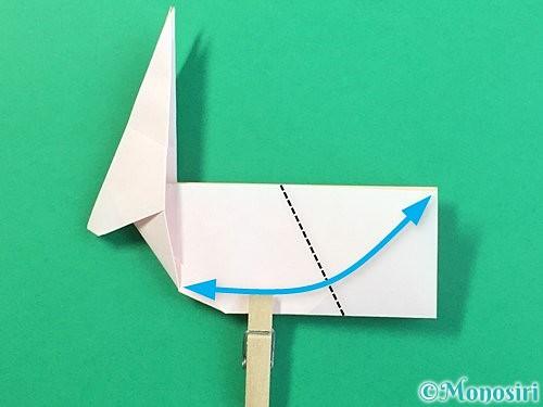 折り紙で立体的なうさぎ折り方手順35