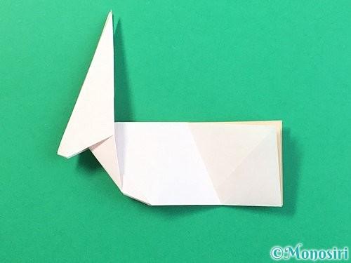 折り紙で立体的なうさぎ折り方手順36