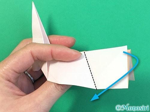 折り紙で立体的なうさぎ折り方手順37