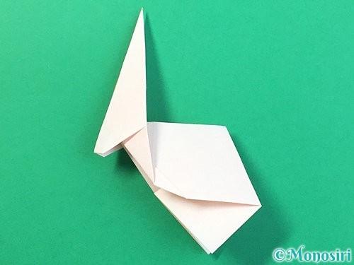 折り紙で立体的なうさぎ折り方手順39