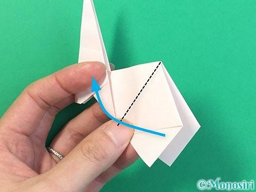 折り紙で立体的なうさぎ折り方手順40