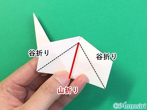 折り紙で立体的なうさぎ折り方手順42