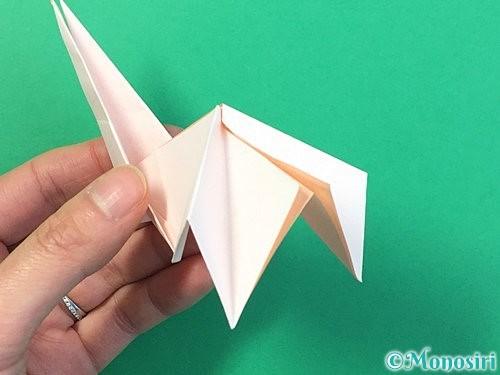 折り紙で立体的なうさぎ折り方手順44