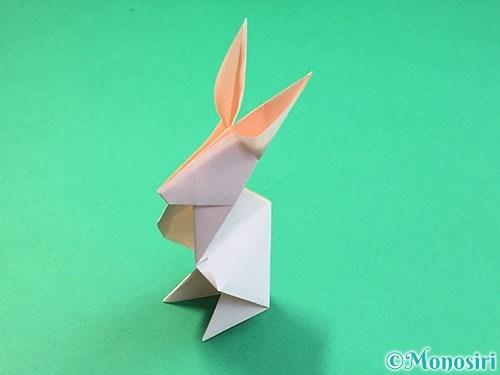 折り紙で立体的なうさぎ折り方手順49